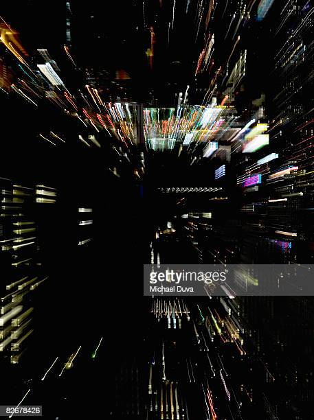 abstract light painting resembling digital world