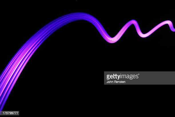 Abstract light trails and streams
