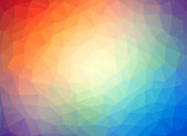 Abstract geometric low poly multicolor background