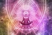 Abstract Meditation Spiritualism Concept is a great background for spiritual purposes.
