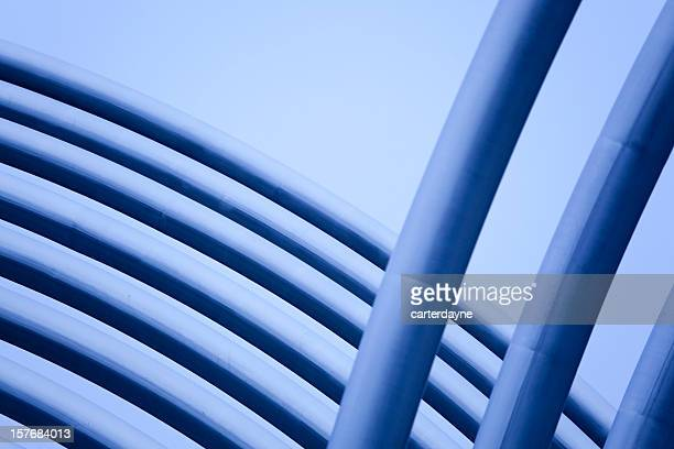 Abstract Metal Pipes and Tubes Sculpture Madrid, Spain