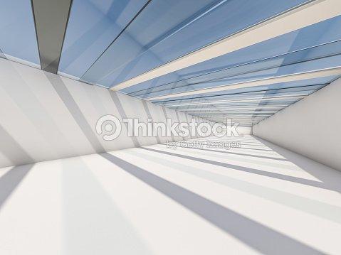 Architecture moderne abstrait, vider l'intérieur des espaces blancs. Rendu 3D : Photo