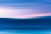 Abstract motion blur background: Dreamy  seascape.