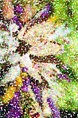 Colorful background in pointillist style - abstract impressionist artwork