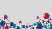 Abstract noisy and CA medical and bio-science background with molecular structure