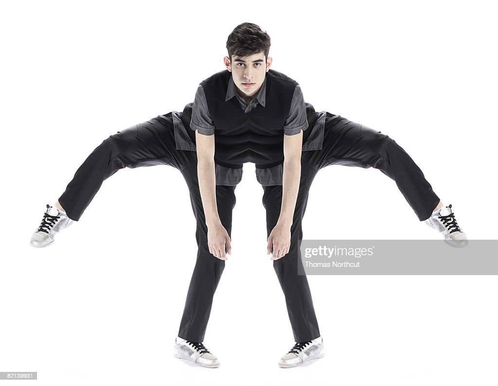 Abstract of Boy Stretching : Stock Photo