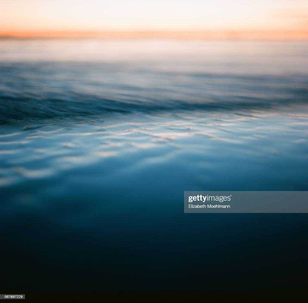 Abstract of pacific ocean at sunset