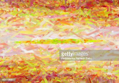 Abstrato Pintura de natureza : Foto de stock