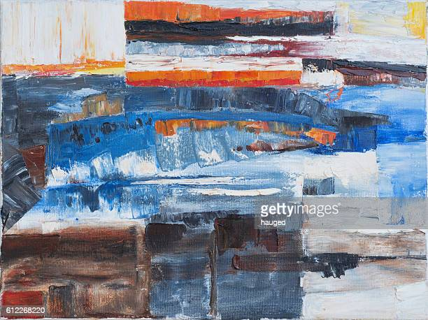 Abstract oil on canvas background
