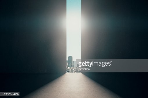 Abstract opening in wall : Stock Photo