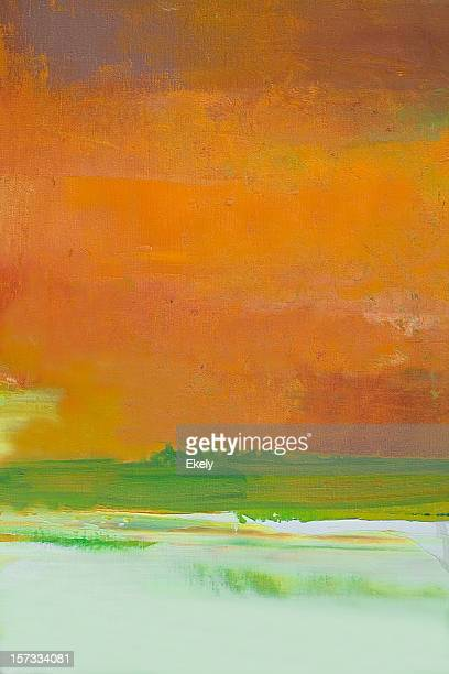 Abstract orange and green art backgrounds.
