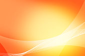 Abstract orange and yellow background of abstract warm curves wave line overlay. Orange technology abstract background style.