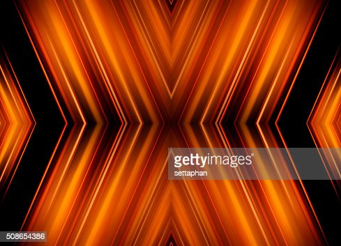 Abstract orange on black background. - business card : Stock Photo
