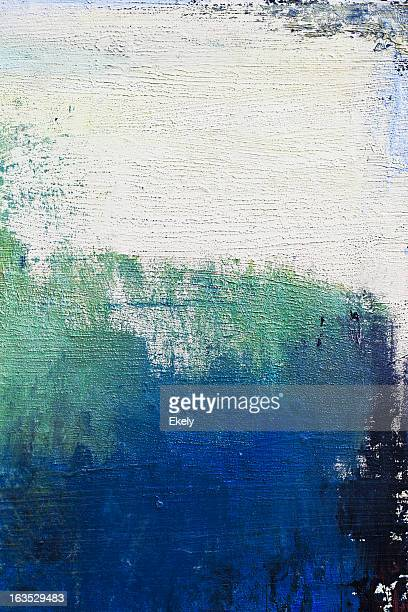 Abstract painted blue and green art backgrounds.