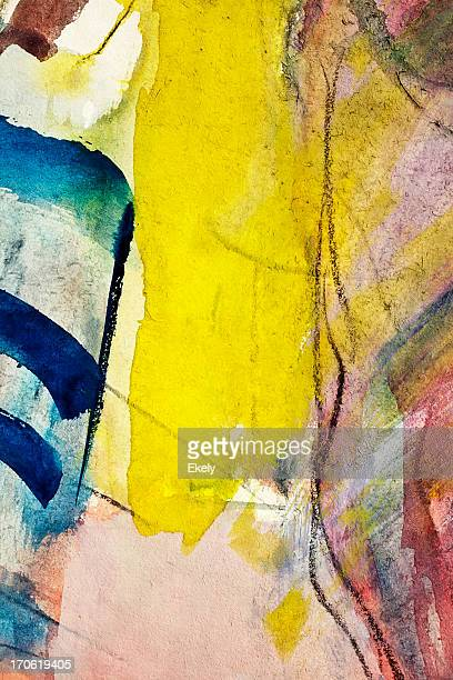 Abstract painted blue and yellow  art backgrounds.