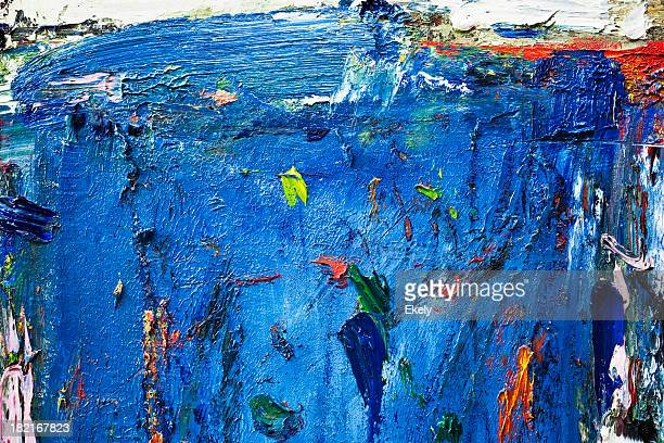 Abstract painted  blue art backgrounds.