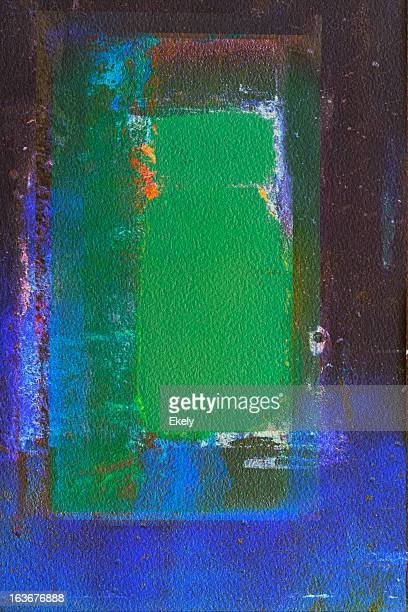 Abstract painted green and blue art backgrounds.