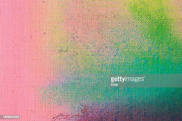 Abstract painted green and purple art backgrounds.