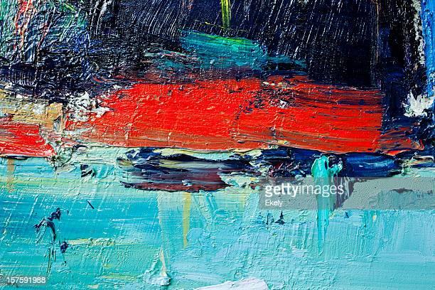 Astratto di verniciato rosso e verde sfondi di arte.