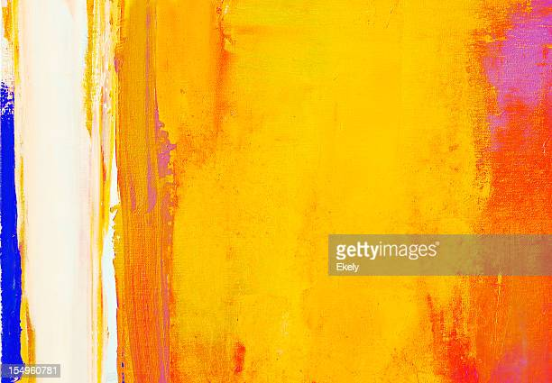 Abstract painted red  and yellow art backgrounds.