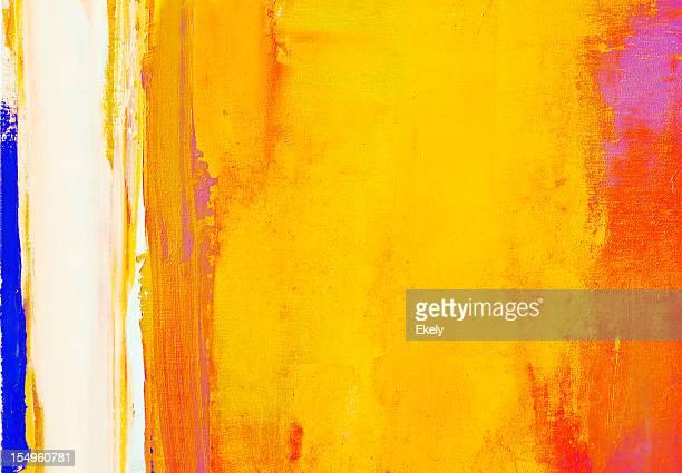 Abstrait rouge et jaune peinture d'art arrière-plans.