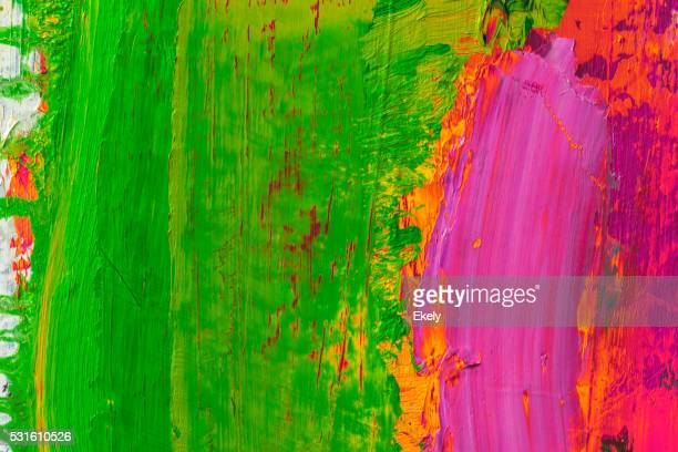 Abstract painted yellow green and pirple  art backgrounds.