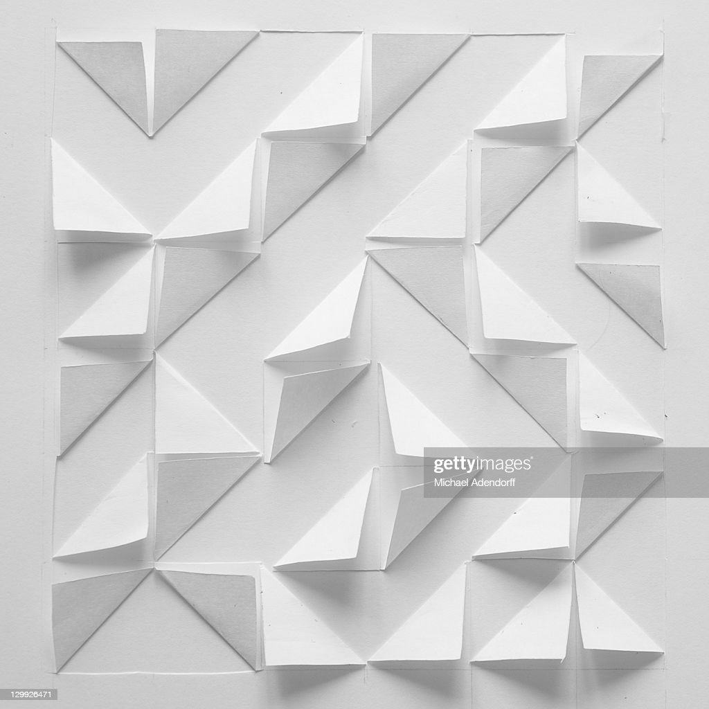 Abstract paper design in white : Stock Photo