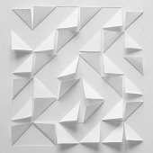 Abstract paper design in white