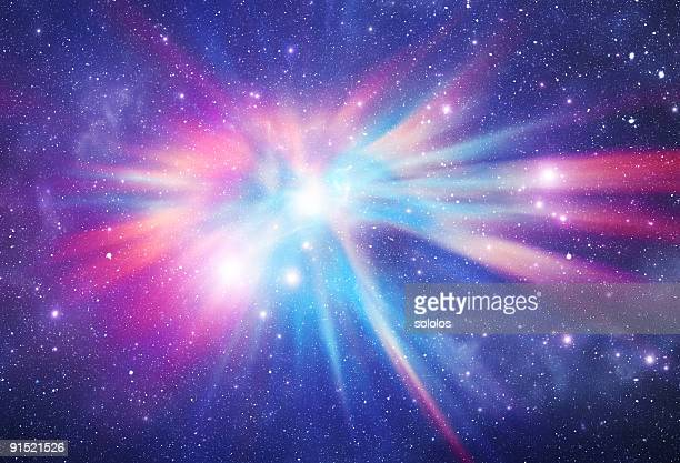 Abstract photo of a colorful space nebula