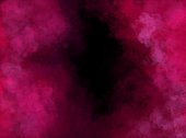 Abstract Pink and Black Cloudy Painting with Brush Strokes