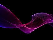 Abstract pink and purple smoke shape
