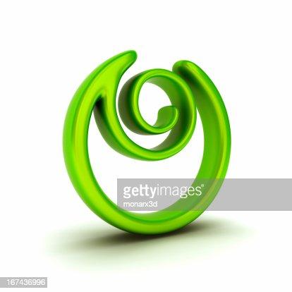 Abstracto símbolo de planta : Foto de stock