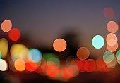 Abstract polka dot light pattern