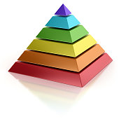 abstract pyramid 3d isolated illustration