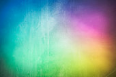 Rough grunge painted bright abstract rainbow art background