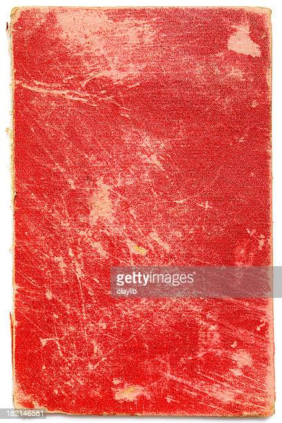 abstract red book cover with scratches