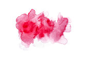 abstract red watercolor isolated on white background
