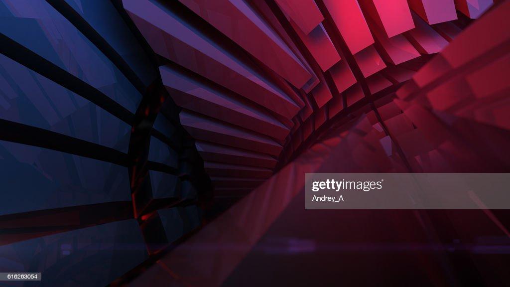 Abstract reflective shiny plastic shape 3d rendering : Stock Photo