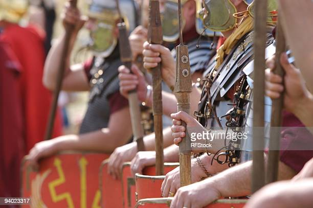 Abstract Roman Soldiers