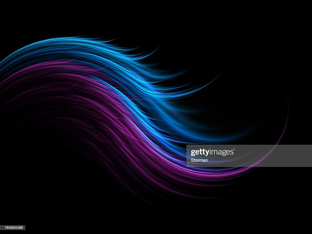 abstract silky feather on black