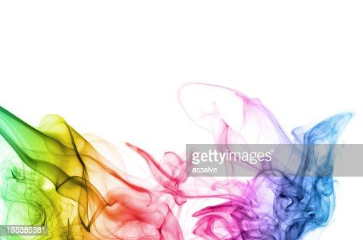 Fondo abstracto con colores del espectro de humo