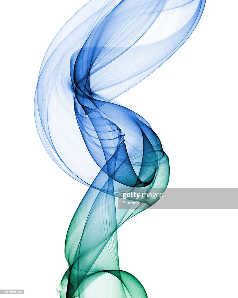 abstract smoke shape on white