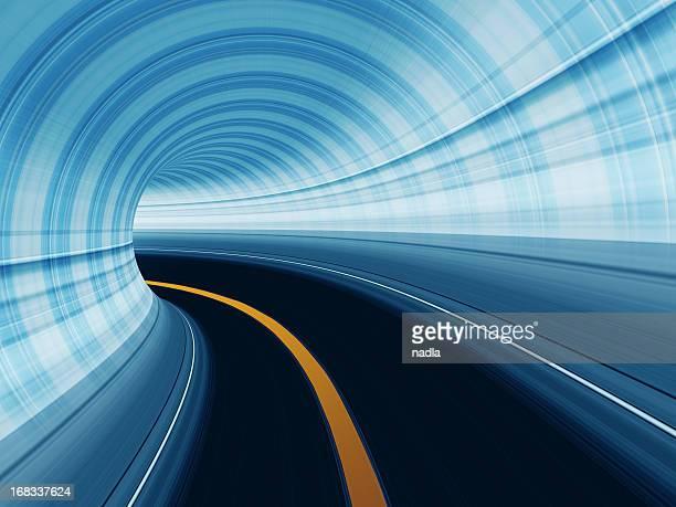 運動の抽象的な高速道路トンネル