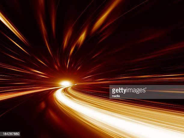 Abstract velocidad de movimiento en la autopista túnel