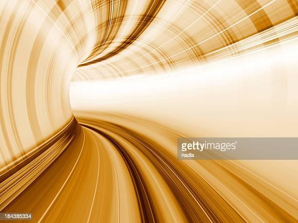 Abstrato movimento no túnel de estrada de Velocidade