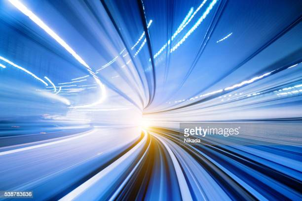 Abstract Speed motion in train tunnel