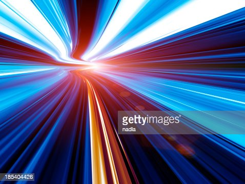 Abstract Speed motion in tunnel