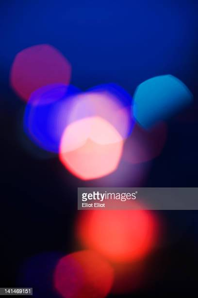 Abstract spotted color pattern dot of street light