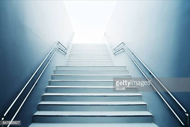 Abstract staircase and handrail