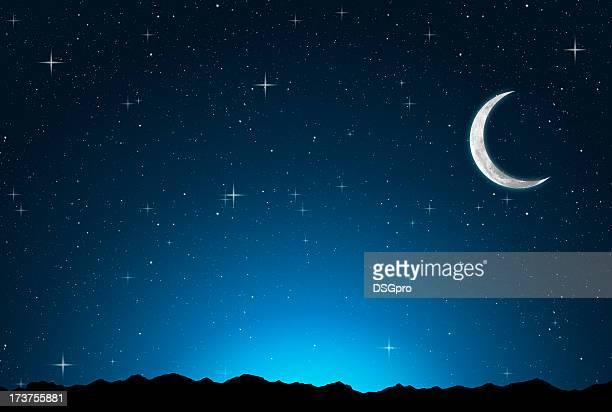 抽象星空の夜